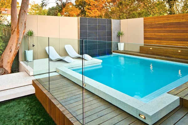 pool fence under deck frameless impressions