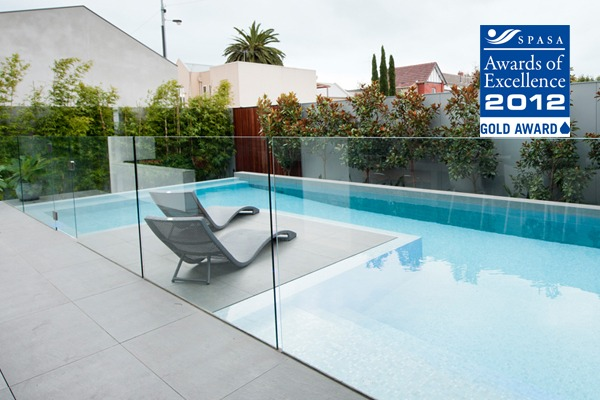 preformed concrete pool fence frameless impressions